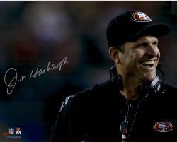 "Jim Harbaugh San Francisco 49ers Autographed 16"" x 20"" Close Up Photograph"