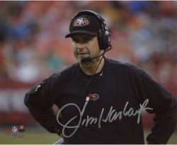 "Jim Harbaugh San Francisco 49ers Autographed 8"" x 10"" Standing Photograph"