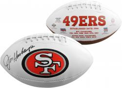 Jim Harbaugh San Francisco 49ers Autographed White Panel Football - Mounted Memories