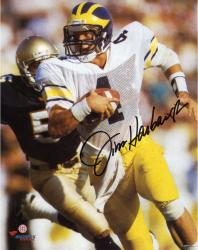 "Jim Harbaugh Michigan Wolverines Autographed 8"" x 10"" Vertical Running Photograph"