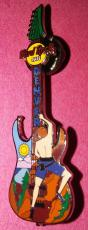 Hard Rock Cafe 2002 Denver Rock Climber Les Paul Guitar Pin Rare Authentic