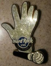 Hard Rock Cafe Hollywood Fl Live Michael Jackson Glitter Glove & Mic Pin Le /300