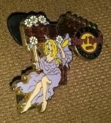 Hard Rock Cafe Hrc 2011 Atlantic City Sexy Flower Fair Girl Guitar Pin Rare /le