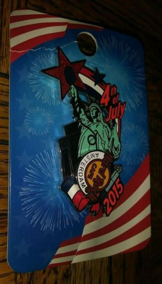 Hard Rock Cafe Hrc 2015 Amsterdam Statue Of Liberty 4th July Pin Collectible /le