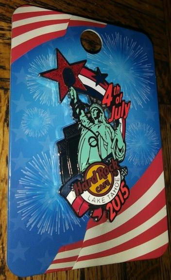 Hard Rock Cafe Hrc 2015 Lake Tahoe Statue Of Liberty 4th July Pin Collectible Le