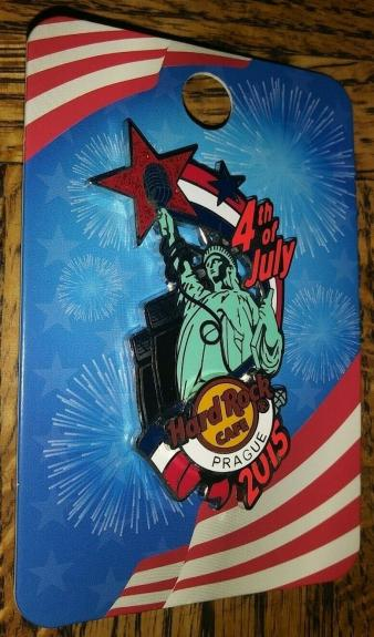 Hard Rock Cafe Hrc 2015 Prague Statue Of Liberty 4th Of July Pin Collectible /le