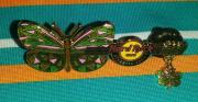 Hard Rock Cafe Hrc Atlantic City Butterfly Guitar Collectible Pin /le Rare