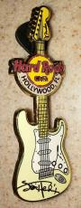 Hard Rock Cafe Jimi Hendrix Hollywood Fl Guitar Pin Rare Signature Collection Le