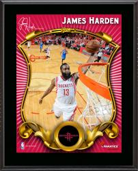 "James Harden Houston Rockets Sublimated 10.5"" x 13"" Stylized Plaque"