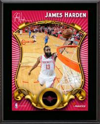 """James Harden Houston Rockets Sublimated 10.5"""" x 13"""" Stylized Plaque"""