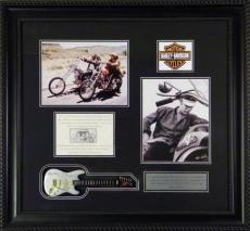 Elvis Presley Deluxe Framed Harley Photo Collage
