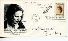 Harold Pinter Tom Stoppard Arnold WeskerPlaywright Author Signed Autograph FDC
