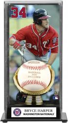 Bryce Harper Washington Nationals Baseball Display Case with Gold Glove & Plate