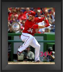 "Bryce Harper Washington Nationals Framed 20"" x 24"" Gamebreaker Photograph with Game-Used Ball"