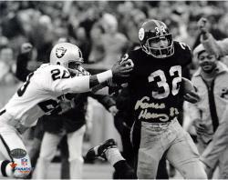 "Franco Harris Pittsburgh Steelers Autographed 8"" x 10"" vs Oakland Raiders Photograph"