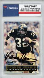 Franco Harris Pittsburgh Steelers Autographed Pinnacle #D's #3000 Card - Mounted Memories