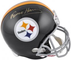 Franco Harris Pittsburgh Steelers Autographed Riddell Replica Helmet - Mounted Memories