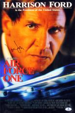 Harrison Ford Air Force One Signed 12x18 Mini Movie Poster BAS #A02013