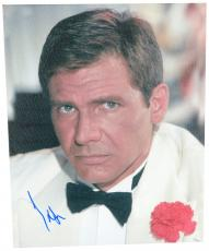"""Harrison Ford Autographed 16""""x 20"""" Indiana Jones & The Temple of Doom White Jacket Stretched Canvas - JSA LOA"""