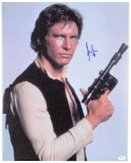 "Harrison Ford Autographed 16""x 20"" Star Wars Stretched Canvas - JSA LOA"