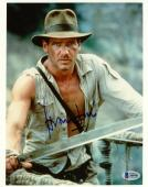 "Harrison Ford Autographed 8"" x 10"" Indiana Jones Holdng Sword Photograph - BAS COA"