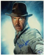 "Harrison Ford Autographed 8"" x 10"" Indiana Jones Photograph - BAS COA"