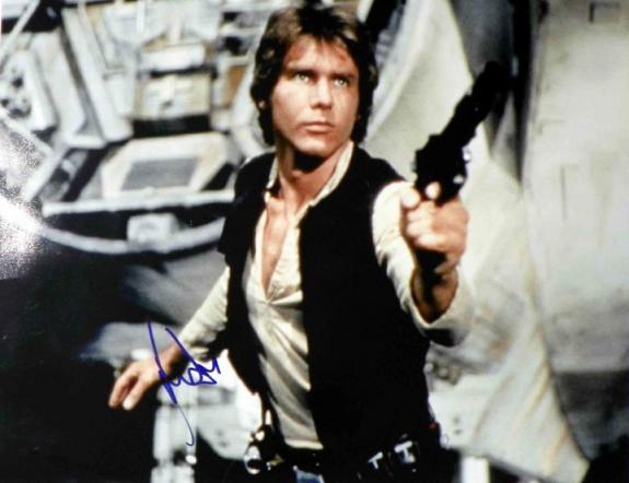 Harrison Ford Autographed Han Solo Signed 20x16 Poster PSA AFTAL