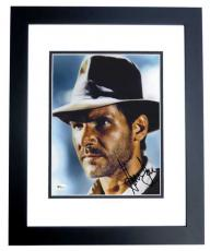 Harrison Ford Autographed Indiana Jones 8x10 Photo BLACK CUSTOM FRAME