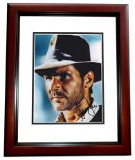 Harrison Ford Autographed Indiana Jones 8x10 Photo MAHOGANY CUSTOM FRAME