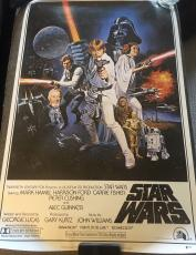 "HARRISON FORD FULL NAME SIGNED AUTOGRAPH ""STAR WARS"" 24x36 MOVIE POSTER BECKETT"