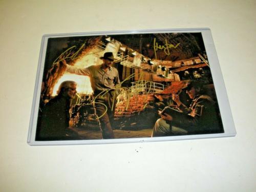 Harrison Ford George Lucas Steven Spielberg Indiana Jones W/coa Signed Photo