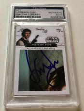 Harrison Ford Han Solo Timeless Cuts STAR WARS Signed Custom CARD 1/1 PSA/DNA