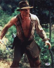 Harrison Ford Indiana Jones Autographed 11x14 Photo Psa/dna  Q29907 Signed
