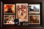 Harrison Ford Indiana Jones Framed Autographed Diary Movie Collage - BAS