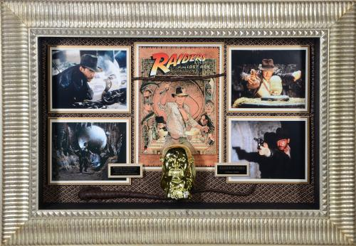 Harrison Ford Indiana Jones Framed Autographed Idol Movie Collage - BAS
