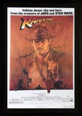 Harrison Ford Indiana Jones Framed Autographed Raiders of the Lost Ark Movie Poster - BAS