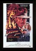 Harrison Ford Indiana Jones Framed Autographed Temple of Doom Movie Poster - BAS