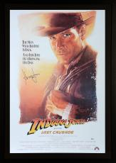 Harrison Ford Indiana Jones Framed Autographed The Last Crusade Movie Poster - BAS