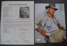 Harrison Ford Indiana Jones Movie Signed Autographed 8x10 Photo Jsa Loa #z09443
