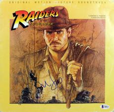 Harrison Ford Indiana Jones Raiders of the Lost Ark Signed Album Cover BAS