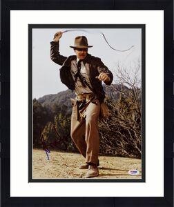 Harrison Ford Indiana Jones Signed 11X14 Photo Graded Perfect 10! PSA #T01022