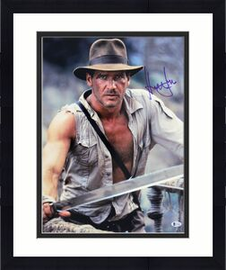 Harrison Ford Indiana Jones Signed 16x20 Photo BAS Witnessed #J51602