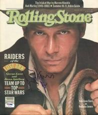 Harrison Ford Indiana Jones Signed 1981 Rolling Stone Magazine PSA/DNA #U01289