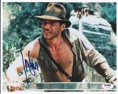 Harrison Ford Indiana Jones Signed 8X10 Photo Auto Graded Perfect 10! PSA U01295