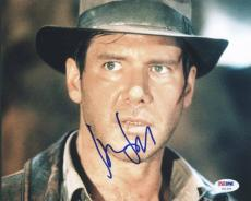 Harrison Ford Indiana Jones Signed 8X10 Photo Auto Graded Perfect 10! PSA U01298