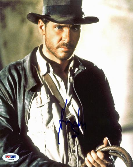 Harrison Ford Indiana Jones Signed 8x10 Photo PSA/DNA #T03804