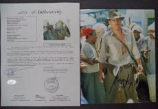Harrison Ford Indiana Jones Signed Autograph 8x10 Photo Rare Jsa Loa #z25841