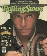 Harrison Ford Indiana Jones Signed Rolling Stone Magazine PSA #I26366