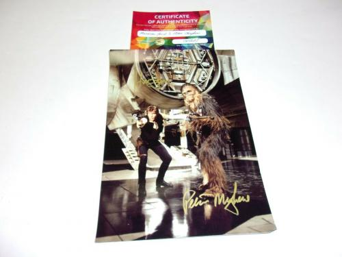 Harrison Ford Peter Mayhew Chewbacca Han Solo Actor Star Wars W/coa Signed Photo