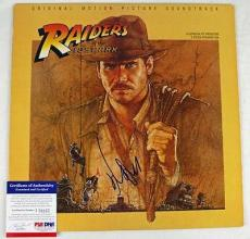 Harrison Ford Raiders Of Lost Ark Signed Album Cover W/ Vinyl PSA/DNA #J76857